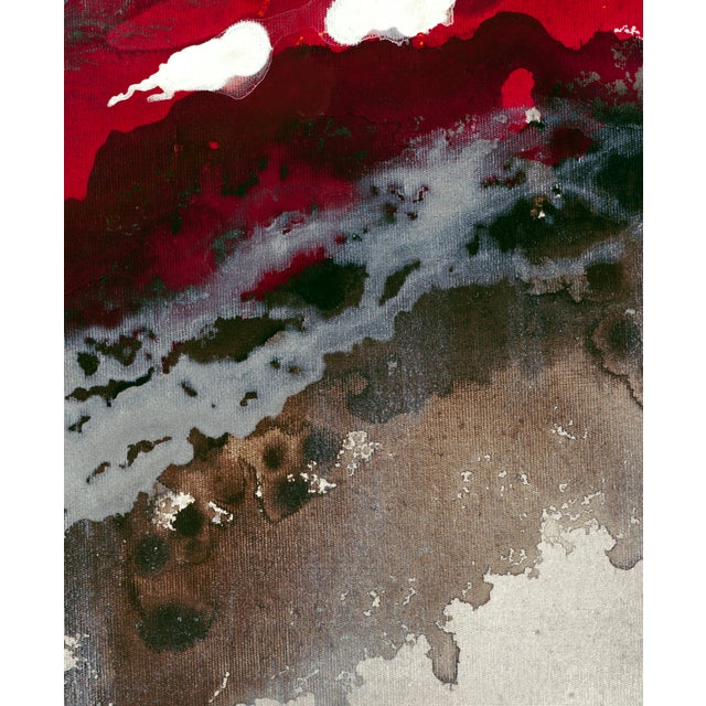 "Liz Jardine Painting ""Liquid Crimson"" - Image 2 of 2"