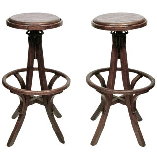 American High Stools - A Pair For Sale
