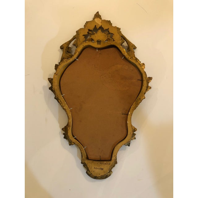 Wood Italian Carved Giltwood Mirror For Sale - Image 7 of 8