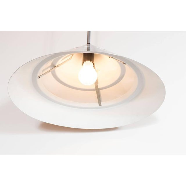 Hans-Agne Jakobsson Mid-Century Brushed Aluminum Cone Ceiling Pendant by Hans-Agne Jakobsson For Sale - Image 4 of 8