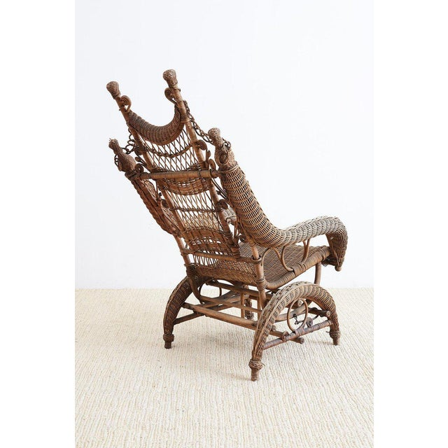 19th Century Heywood Wakefield Wicker Platform Rocker For Sale In San Francisco - Image 6 of 13