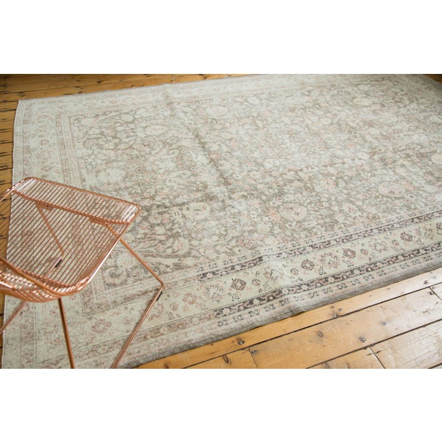 "Islamic Vintage Distressed Sivas Carpet - 7'2"" x 10'7"" For Sale - Image 3 of 9"