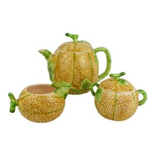 1982 Haldon Group Melon Tea Set - 3 Pieces For Sale