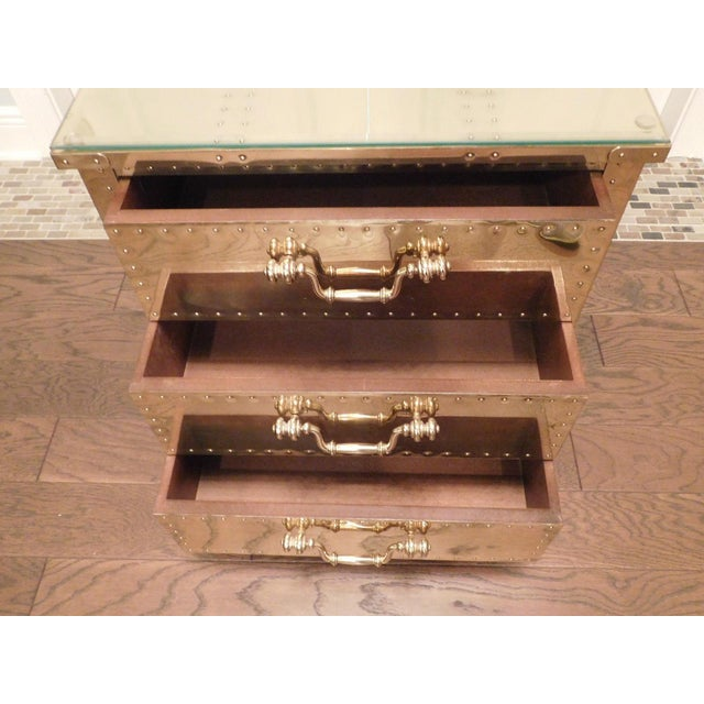 Serreid LTD Vintage Brass Nightstand - Image 7 of 11