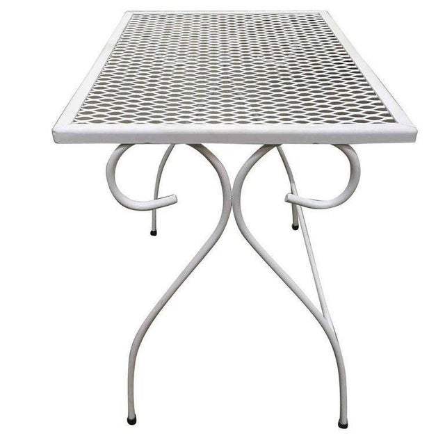 b8c9cce0d947 Woodard Furniture Co. Woodard Mesh Steel Outdoor Patio Nesting Side Tables