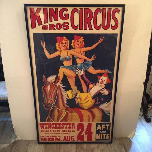 1959 Vintage King Brothers Circus Poster For Sale - Image 11 of 12