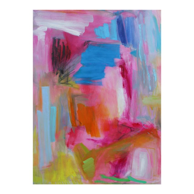 """Large Abstract Oil Painting by Trixie Pitts """"Florida Feeling"""" For Sale"""