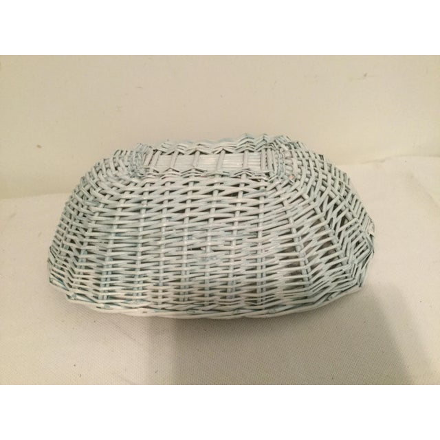 American White Wicker Basket For Sale - Image 3 of 8