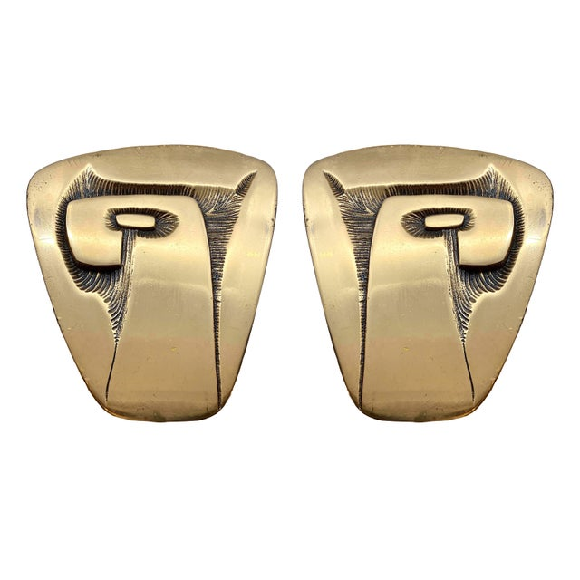 1960s Richard Myklebust Sculptural Door Handles - a Pair For Sale - Image 9 of 9