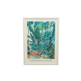 Poolside Bromelaids Framed Poster by Eileen Seitz For Sale