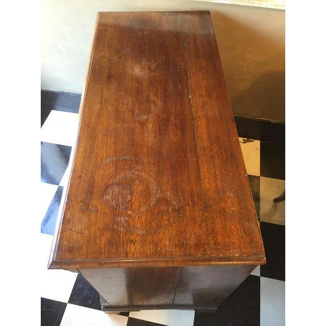 19th C. English oak six drawer cupboard.