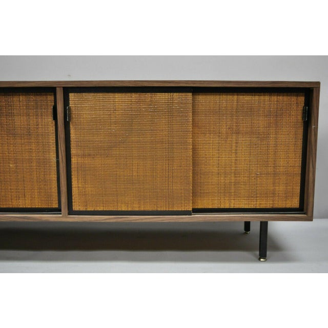1970s Mid Century Modern Laminate Formica Case Credenza For Sale - Image 4 of 13
