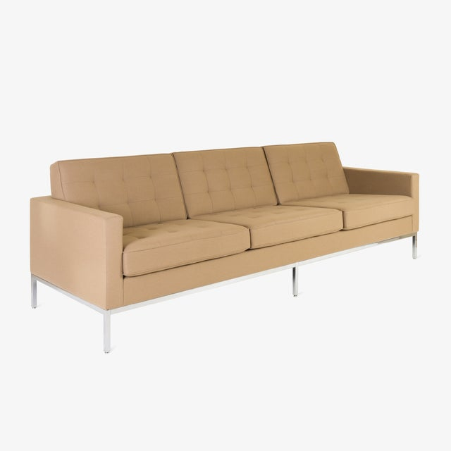 The Classic Florence Knoll Sofa; a quintessential piece of midcentury design. This contemporary edition example (2006) is...