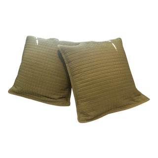 Ann Gish for Crate & Barrel Silk Pillow Covers - A Pair For Sale