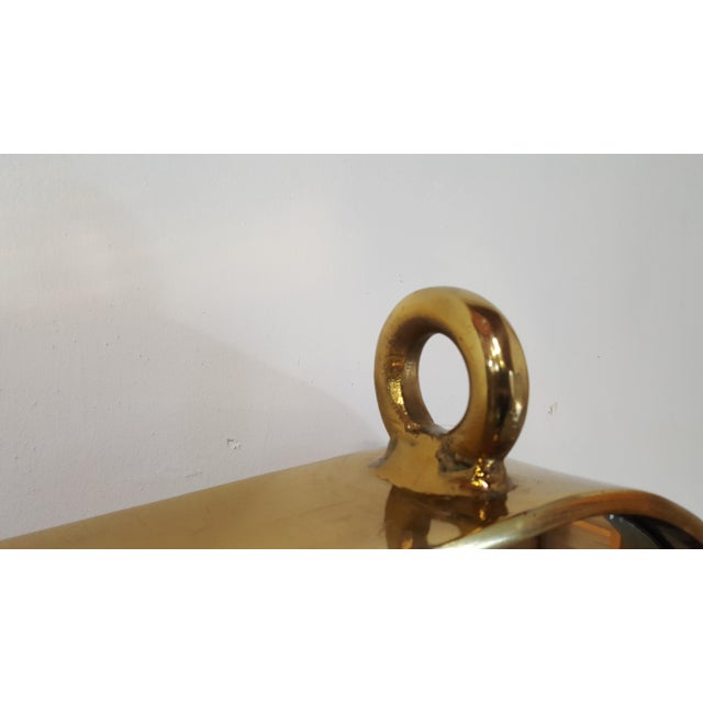 Vintage Brass Nautical Mirror For Sale - Image 11 of 11