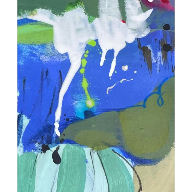 """Abstract """"You'd Love It Here"""" Contemporary Mixed-Media Painting on Paper by Gina Cochran For Sale - Image 3 of 5"""