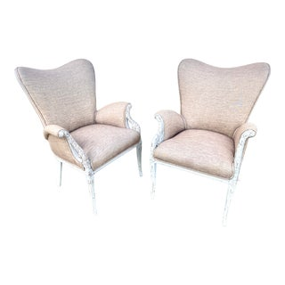 Late 19th Century Swedish Gustavian Wingback Chairs -- a Pair For Sale