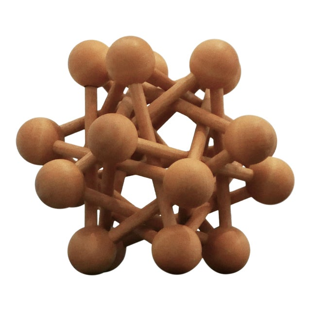 Mid-Century Wood Atomic Model For Sale