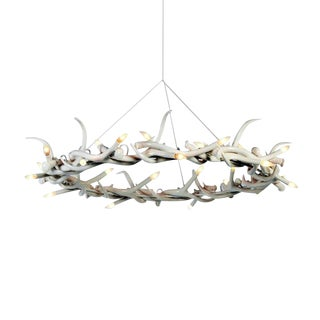 White Resin Antler Halo Chandelier For Sale