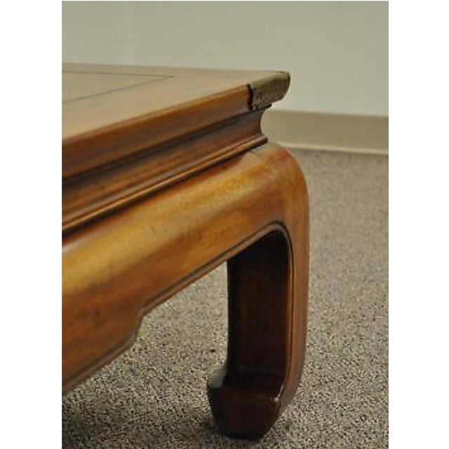 Chinese Vintage Henredon Asian Ming Style Oak Coffee Table For Sale - Image 3 of 4