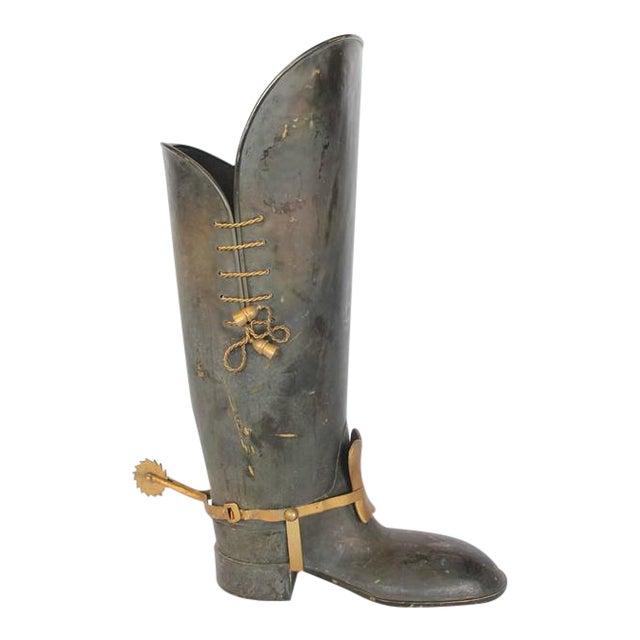 Mid-Century Italian Brass Umbrella Stand For Sale