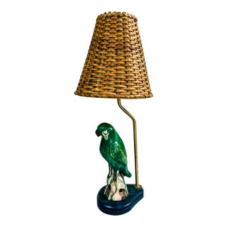 20th Century Chinoiserie Roof Parrot Lamp For Sale