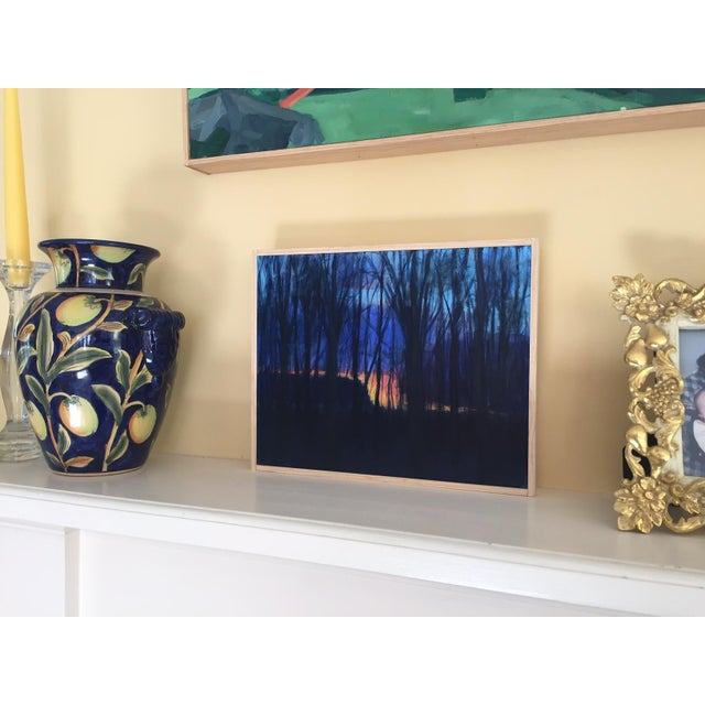 Original Sunset Through Trees Painting - Image 4 of 4