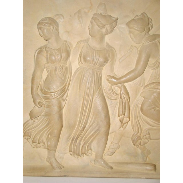 Neoclassical Roman Plaque Plaster Wall Hanging For Sale - Image 4 of 8