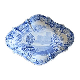 1830s English Transferware Dish For Sale