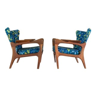 1960s Vintage Adrian Pearsall Armchairs With Sculptural Frames- A Pair For Sale