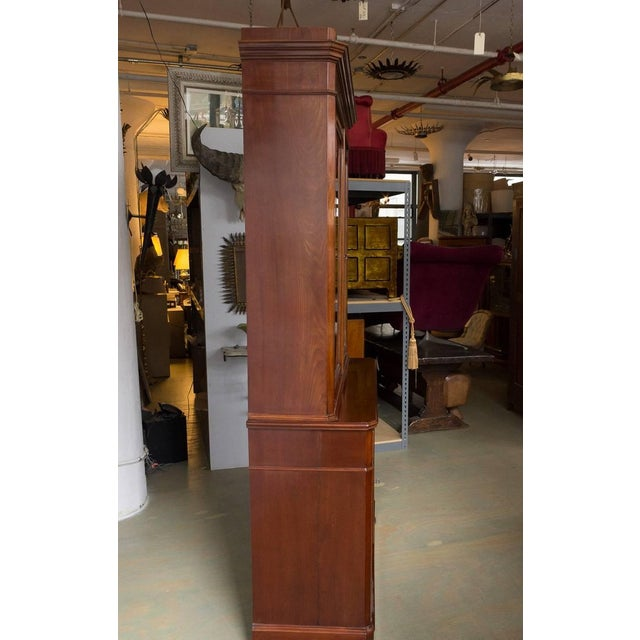 Mid 19th Century French 19th Century Two-Part Mahogany Bookcase For Sale - Image 5 of 10