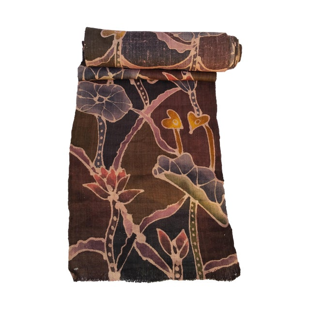 Homespun Hand Painted Batik Fabric For Sale