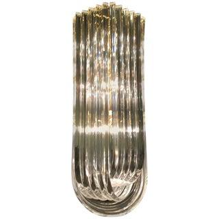 Long Lucite Ribbon Chandelier