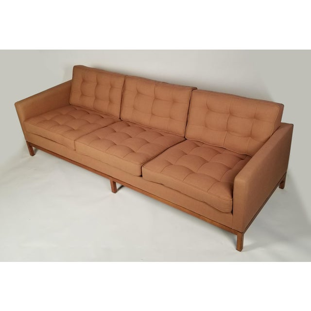 Wood Three Seat Sofa Designed by Florence Knoll for Knoll International For Sale - Image 7 of 8