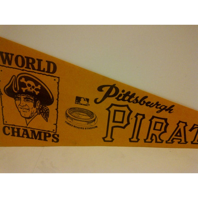 Vintage World Champs Team Pennant Circa 1970 For Sale - Image 5 of 6