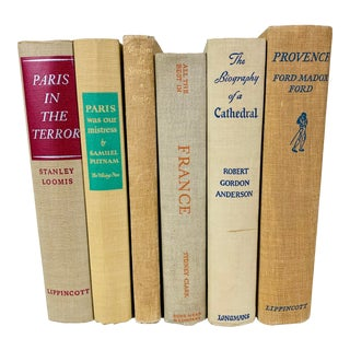 Vintage Neutral Books on French History and Culture - Set of 6 For Sale