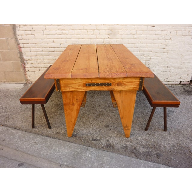 Shajan Table And Two Benches - Image 3 of 6