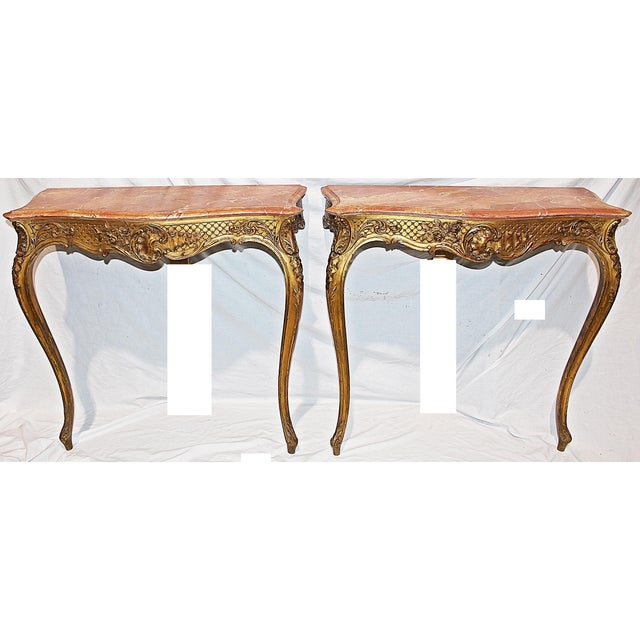 19th Century Antique Fench Gilt Consoles A Pair Chairish