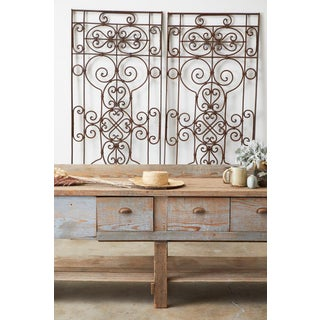 Set of Eight Spanish Wrought Iron Doors or Gates Preview