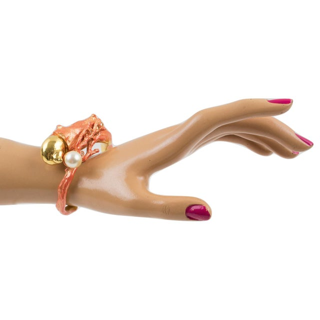 Christian Dior Paris signed clamper bracelet bangle designed for the launch of his Dune Fragrance in 1987. Sculptural...