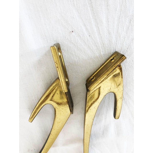 Brass Coat Wall Hooks by Hertha Baller Set of 2 For Sale - Image 10 of 13