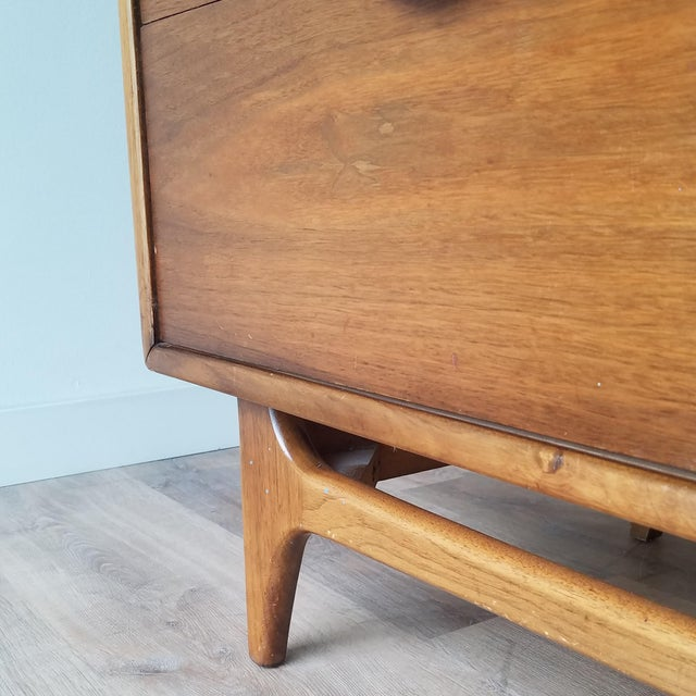 1960s Lane Perception Four Drawer Dresser With Mirror For Sale - Image 9 of 13