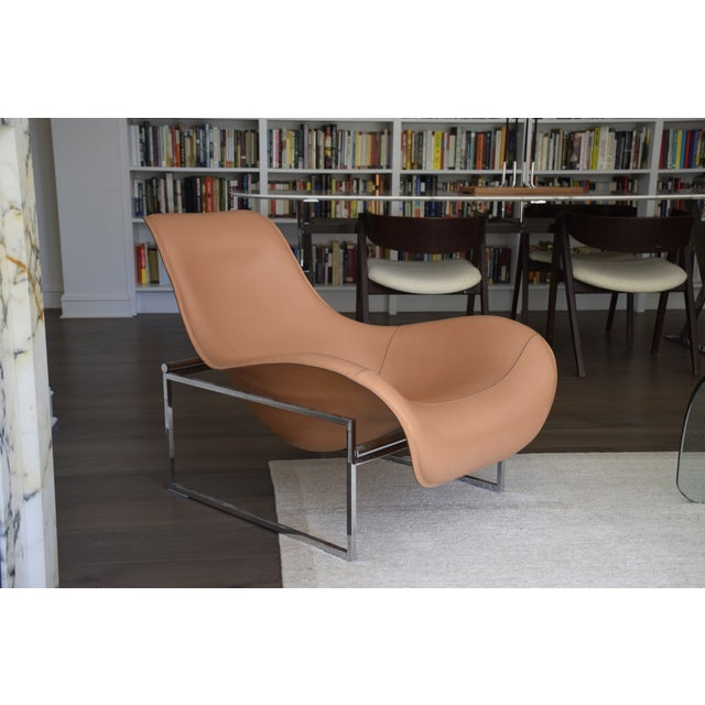 B&b Italia Leather Mart Chair For Sale - Image 10 of 12