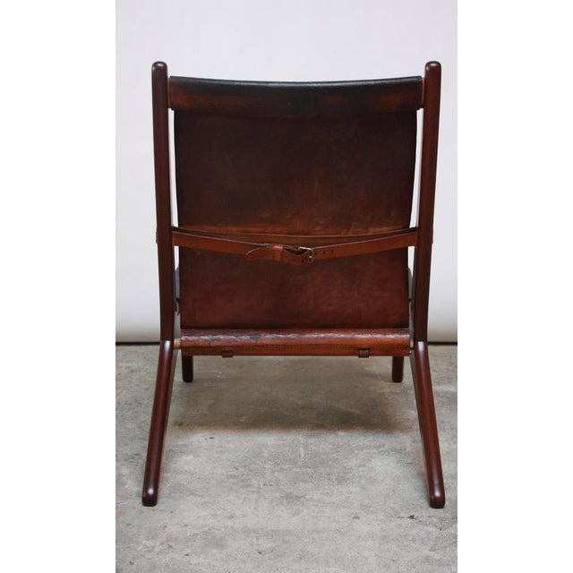 Swedish Teak and Leather Hunting Chair Model #204 by Uno and Östen Kristiansson - Image 9 of 11