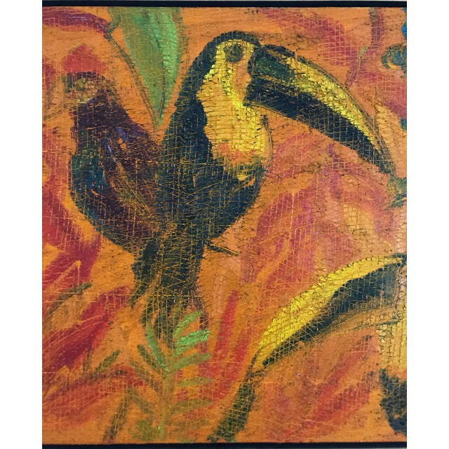 Painting of Toucans by Hunt Slonem For Sale - Image 4 of 6