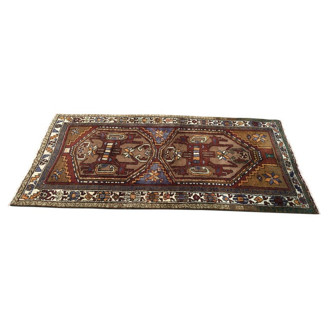 Thick and Heavy and Hearty Persian Kourdish Rug - 3′5″ × 6′5″ - Image 1 of 9