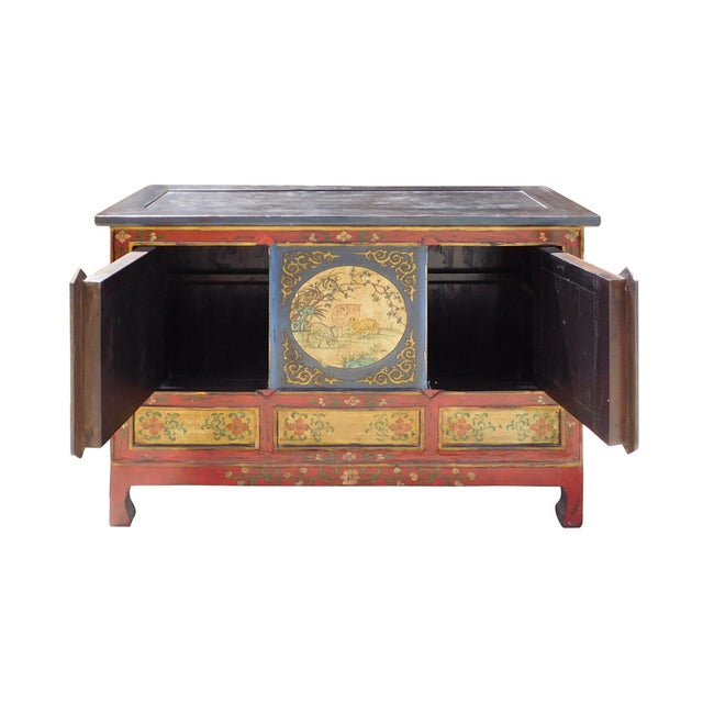 Chinese Tibetan Credenza - Image 6 of 7