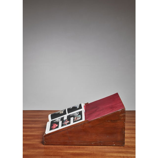 1950s Pierre Jeanneret Teak and Leather Reading Stand From Chandigarh For Sale - Image 5 of 5