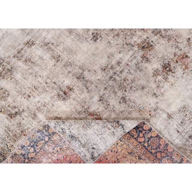 "Shabby Chic Vintage Persian Overdyed Rug, 8'11"" X 11'1"" For Sale - Image 3 of 9"