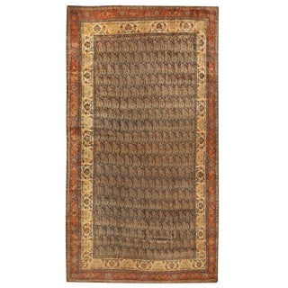 Antique Oversize 19th Century Persian Bidjar Carpet For Sale